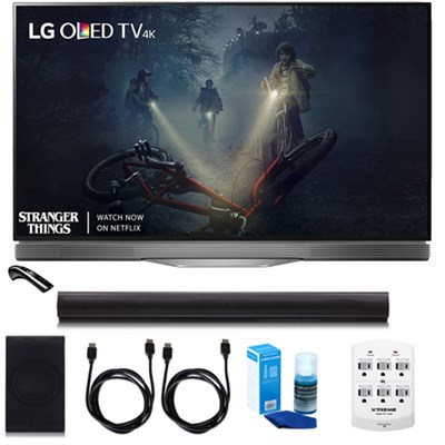 LG OLED55E7P - 55` E7 OLED 4K HDR Smart TV w/LGSH7B 4.1ch Wi-Fi Sound Bar Bundle