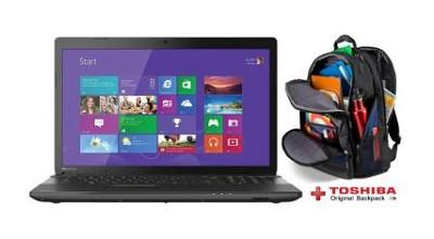 Satellite 17.3` C75-A7390 Notebook PC - Intel Core i3-3120M Processor + Backpack