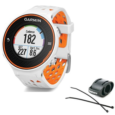 Forerunner 620 Orange/White Bundle with Heart Rate Monitor + Bike Mount Kit