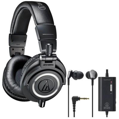 ATH-M50X Professional Studio Headphones Plus Bonus ATH-ANC23 In-Ear Headphones