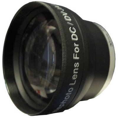 Professional 2x Telephoto Lens Converter - for 30mm threading w/ 27 & 28mm Rings
