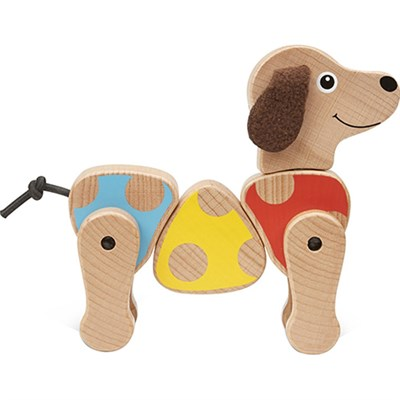 PUPPY GRASPING TOY CLASSIC TOYS FIRST PLAY WOODEN TOYS