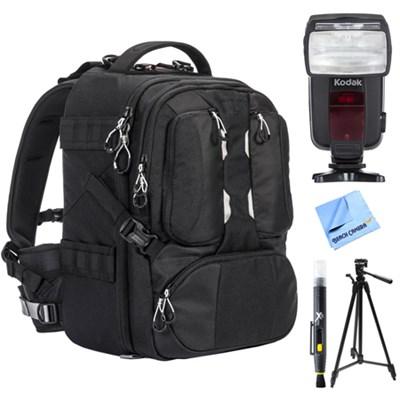 ANVIL 17 Photo DSLR Camera and Laptop Backpack w/ Flash Bundle For Nikon