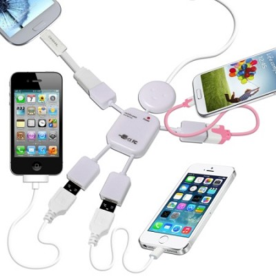 4-Port Man Shaped USB Hub in White