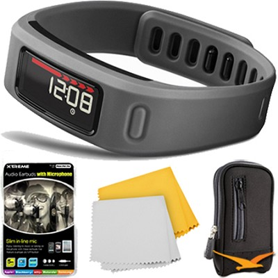 Vivofit Bluetooth Fitness Band Plus Accessory Bundle (Slate)(010-01225-05)