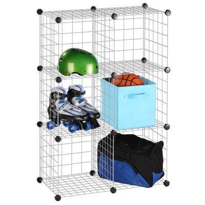 6Pk Modular Storage Cube Silvr
