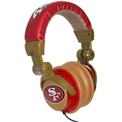 NFL Football Licensed San Francisco 49ERS DJ Style Headphones