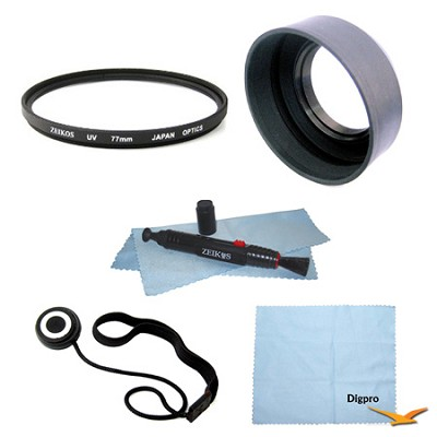 Essential 77mm UV Filter Accessory Bundle
