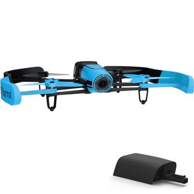 BeBop Drone 14MP Full HD 1080p Fisheye Camera Quadcopter (Blue) w/ Extra Battery