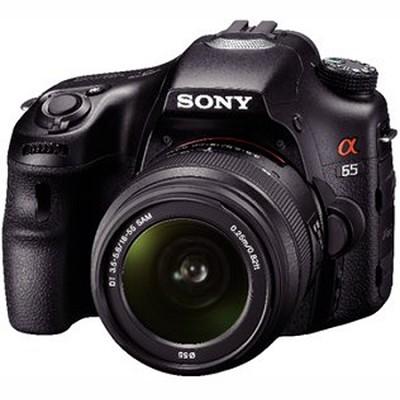 SLTA65VK - a65 Digital SLR24.3 MP 18-55mm Zoom Lens - OPEN BOX