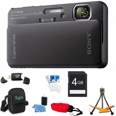 Cyber-shot DSC-TX10 Black Digital Camera 4GB Bundle