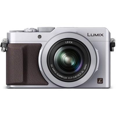 LUMIX LX100 Integrated Leica DC Lens Silver Camera - OPEN BOX
