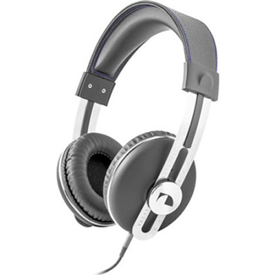 NK2030 Over the Ear Retro Stereo Headphone - Gray w/Blue Thread