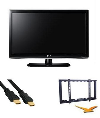 32LK330 - 32 Inch 720p LCD TV Kit with Slim Mount and High Speed HDMI Cable