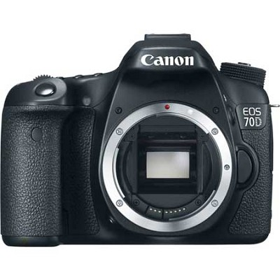 EOS 70D 20.2 MP CMOS (APS-C) Digital SLR Camera with 3` LCD (Body Only)