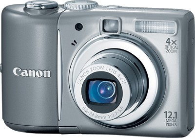 PowerShot A1100 12MP Digital Camera (Gray) - REFURBISHED