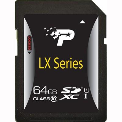 64GB LX Series Class 10 SDXC Flash Memory Card (PSF64GSDXC10)