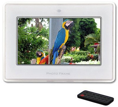 MI-PF 7-inch Digital Picture Frame & MP3 Player w/ Stereo Speakers - OPEN BOX