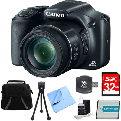 PowerShot SX530 HS 16MP 50x Opt Zoom Full HD Digital Camera Bundle with 1150mah