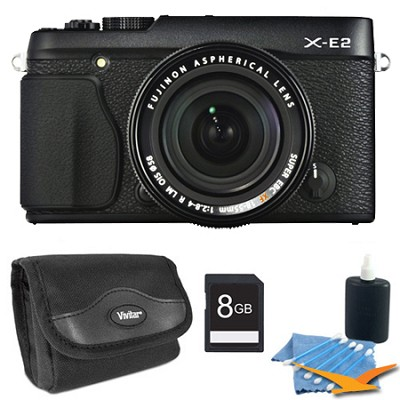 X-E2 16.3 MP Compact System Digital Camera w/ 3.0-Inch LCD 18-55mm Lens 8GB Kit
