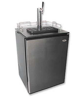 Stainless Steel BrewMaster: Holds 1/2, 1/4 & Mini Barrel Kegs - Steal