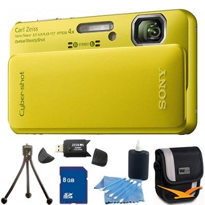 Cyber-shot DSC-TX10 Green Digital Camera 8GB Bundle