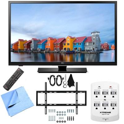 32LF500B - 32-Inch 720p 60Hz LED HDTV Mount & Hook-Up Bundle