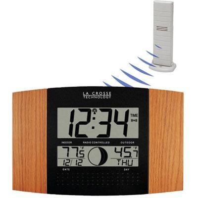 Atomic Digital Wall Clock - WS-8117U-IT-OAK