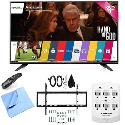 43UF7600 - 43-Inch 2160p 120Hz 4K UHD Smart LED TV w/ WebOS Mount/Hook-Up Bundle