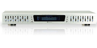 EQ-S5100 10 Band Graphic Equalizer with individual LED indicators (Silver)