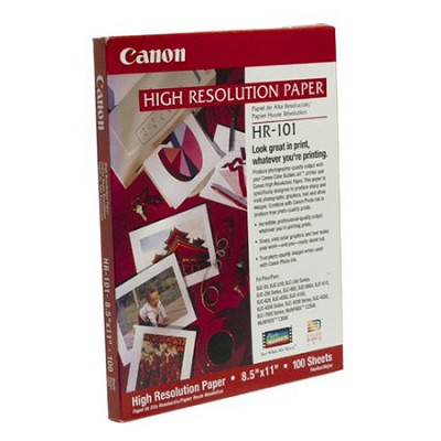 HR-101 High Resolution Paper for Bubble Jet Printers (1033A011, 100-Sheets)