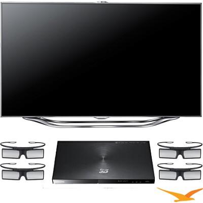 UN60ES8000 60 inch 240hz 3D Slim LED HDTV + BDE5900 3D Blu Ray