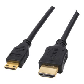 High Speed mini-HDMI to HDMI A/V Cable 6 Feet - (Bulk Packaging)