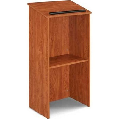 Full Floor Lectern with Shelf Cherry