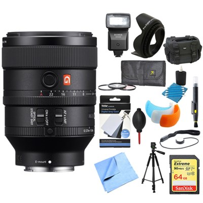 FE 100mm F2.8 STF GM OSS Lens for Sony Cameras Ultimate Accessory Bundle