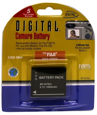 NP-70 1200mah Lithium Battery for Fuji Finepix F20 and F40FD