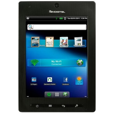 Planet 7` Android Tablet (R70A200) with 2GB Internal Storage, 256MB Memory - Blk