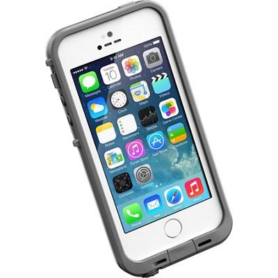 White iPhone 5S/5 Fre Case- Retail Packaing - (LP-2101-02) - OPEN BOX