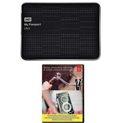 My Passport Ultra 2 TB USB 3.0 HDD Black & Photoshop Premiere Elements 12
