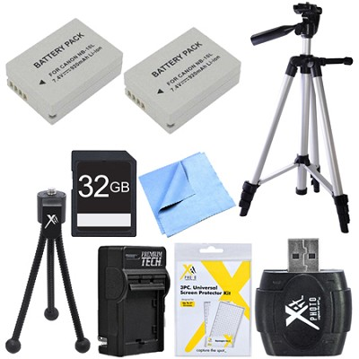 Ultimate NB-10L Battery Bundle for Canon Powershot G16, SX50, G1X, SX60 Cameras
