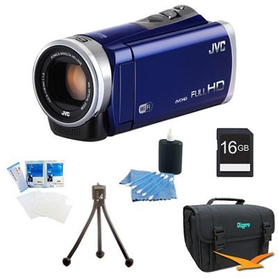 GZ-EX310AUS - HD Everio Camcorder 40x Zoom f1.8 (Blue) with 16GB Bundle