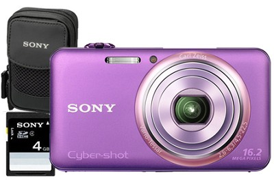 DSC-WX70/V - 16.2MP Exmor R CMOS Full HD Digital Camera 3` LCD 5x Zoom (Violet)