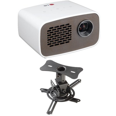 PH300 LED Minibeam Projector with Embedded Battery Theater Ceiling Mount Kit