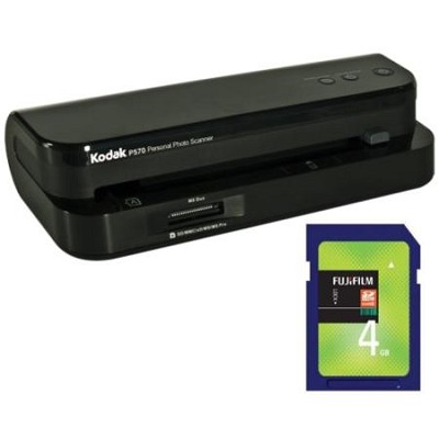 P570 Personal Photo Scanner - 5x7 inch Photos with 4GB Memory Card