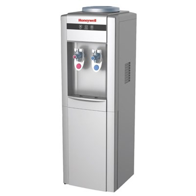 39-Inch Freestanding Water Cooler Dispenser, Hot and Cold, Stainless, Silver