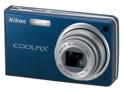 Coolpix S550 10MP 5x Zoom Digital Camera (Cool Blue)