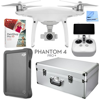 Phantom 4 Pro Plus Drone with Deluxe Controller, Custom Case, 2TB Fly Drive Kit