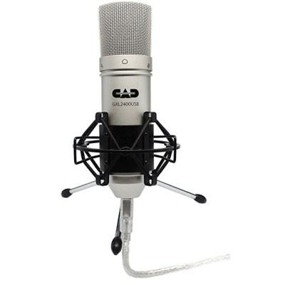 Large Diaphragm Studio Condenser USB Recording Microphone with Shock Mount