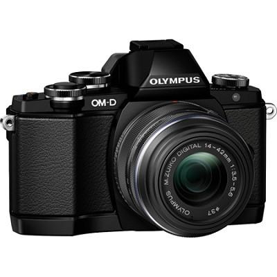 OM-D E-M10 Mirrorless Micro Four Thirds Digital Camera w/ 14-42mm 2RK Lens Black