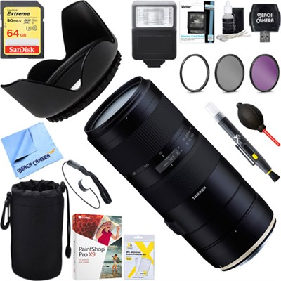 70-210mm F/4 Di VC USD Telephoto Zoom Lens for Canon + 64GB Ultimate Kit